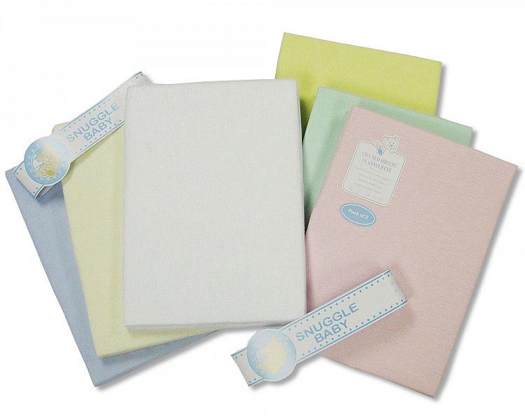 265 2 Pack Snuggle Baby Flannelette Pram Sheet